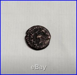 Jewish Revolt Against the Romans 68 C. E Autenthic Ancient Bronze Coin Old Prutah