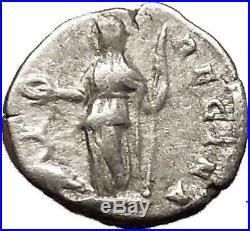 Julia Domna Caracalla & Geta mother 209AD Silver Ancient Roman Coin JUNO i53176