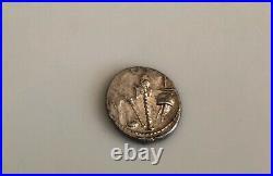 Julius CAESAR Ancient Denarius Silver Coin with Elephant 48 BC