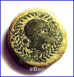 Julius Caesar 100bc-44bc /ancient Roman Hispania Provincial Coin #ibe1