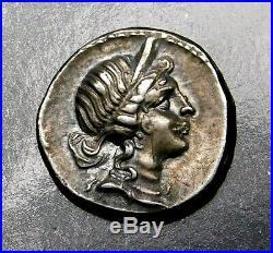 Julius Caesar 48-47 BC Exquisite Rare Denarius. Ancient Roman Silver Coin