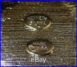 KJL Kenneth Jay Lane Ancient Roman Greek Coin Gold Tone Hinged Cuff Bracelet