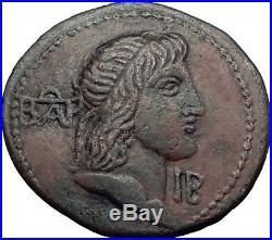King of Bosporus Apurgus & Roman Emperor CALIGULA 37AD Ancient Greek Coin i61988