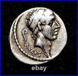 L. Marcius Philippus, Stunning Denarius circa 56 BC. Roman Republic Silver Coin