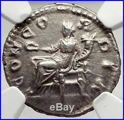 LUCILLA Lucius Verus Wife 164AD Authentic Ancient Silver Roman Coin NGC i72941