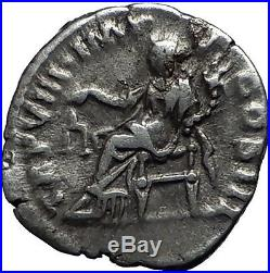 LUCIUS VERUS Marcus Aurelius Co-Emperor Ancient Silver Roman Rome Coin i57971