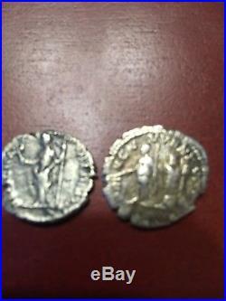 Lot Of 2 Ancient Roman Silver Coins Denarius Of Caracalla And GetaXF+bonus