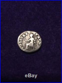 Lot Of 5 Ancient Roman Coins Silver Denarius Of Vespasian+4 Larger CoinsVF-XF