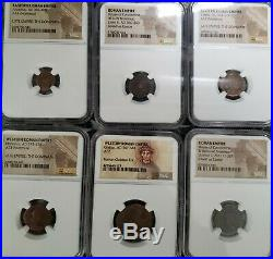 Lot Of 6 NGC certified Roman Empire Ancient Coins