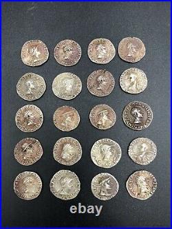 Lot Sale! 20 Pieces Ancient Roman Silver Coin 244 249 AD AR Antoninianus (3)