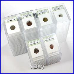 Lot of 100 Ancient Coins Roman, Widows Mite Sized, Greek, Pirate, Byz & Medieval