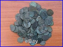 Lot of 100 Ancient Roman Imperial and Provincial Bronze Uncleaned Coins