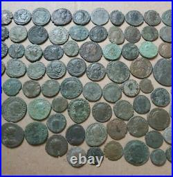Lot of 124 Ancient Roman Coins