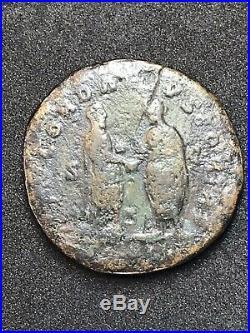 Lucius Verus AE 34mm Sestertius. Ancient Roman Imperial Coin. Rome Mint