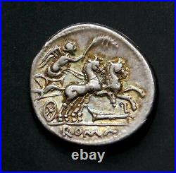 M Cipius Mf Superb Denarius ca. 115 or 114 BC Ancient Roman Republic Silver Coin