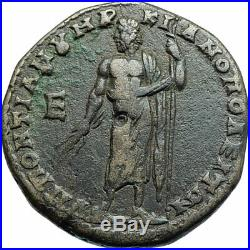 MACRINUS & SON DIADUMENIAN Ancient 217AD Marcianopolis Roman Coin ZEUS i78930