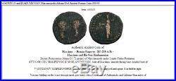 MACRINUS and DIADUMENIAN Marcianopolis Athena Owl Ancient Roman Coin i38840