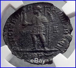 MAGNENTIUS 350AD Chi-Rho Labarum Authentic Ancient Roman Coin NGC XF Rare i60273