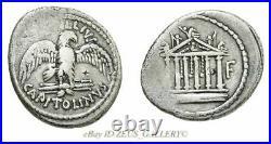 MARC ANTONY Cleopatra 43 BC Temple of Jupiter Ancient Roman Silver Denarius Coin