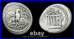 MARC ANTONY temp. Cleopatra 43 BC Temple of Jupiter Ancient Roman Denarius Coin
