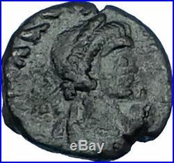 MARCIAN Monogram in Wreath 450AD Authentic Ancient Original Roman Coin i65740
