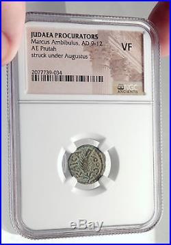 MARCUS AMBIBULUS Augustus Jerusalem Ancient 10AD BIBLICAL Roman Coin NGC i70910
