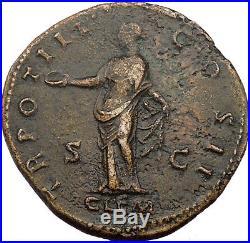 MARCUS AURELIUS 161AD Sestertius NGC Certified XF Authentic Ancient Roman Coin