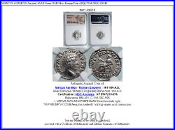 MARCUS AURELIUS Ancient 161AD Rome OLD Silver Roman Coin AEQUITAS NGC i89618