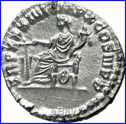 MARCUS AURELIUS Authentic Ancient 179AD Rome Silver Roman Coin FORTUNA i84281