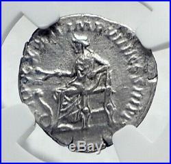 MARCUS AURELIUS Authentic Ancient Silver Roman Coin SALUS SERPENT NGC i81291