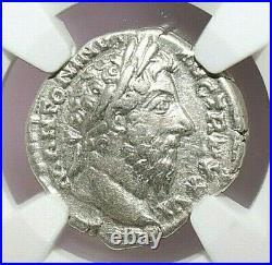 MARCUS AURELIUS NGC Ch VF ROMAN COINS, AD 161-180. AR Denarius. A745