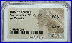 MARCUS AURELIUS NGC MS ROMAN COINS, AD 161-180. AR Denarius. A777
