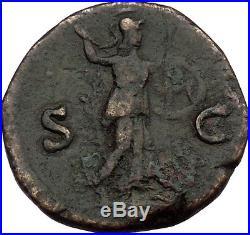 MARCUS AURELIUS as Caesar 145AD BIG Ancient Roman Coin Minerva Athena i36685