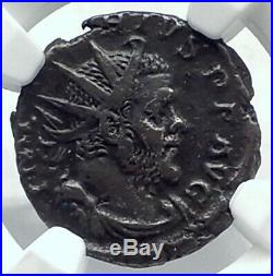 MARIUS Very Rare GALLIC Roman Empire Ancient Cologne Coin HANDS SHAKE NGC i78894