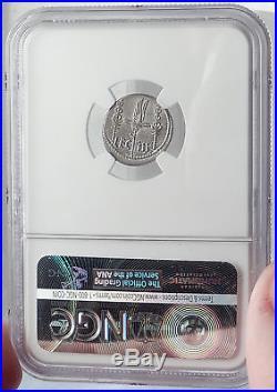 MARK ANTONY Cleopatra Lover 32BC Ancient Silver Roman Coin LEGION III NGC i65065