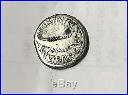 MARK ANTONY Legion IV Ancient Silver Roman Coin