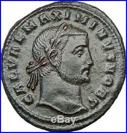MAXIMINUS II Daia 308AD Ancient Roman Coin Nude GENIUS Protection Wealth i22409
