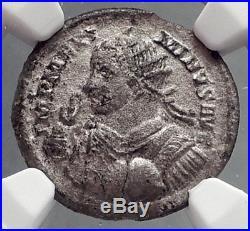 MAXIMINUS II Daia 310AD Silver Argenteus Ancient Roman Coin SOL Rare NGC i64196