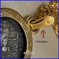 MONETE ANCIENT ROMAN COIN BVLGARI 18KT YELLOW GOLD VINTAGE PENDANT NECKLACE 21gr