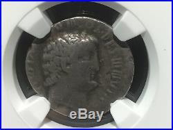 Marc Antony (Mark) AR Denarius, Roman Imp. Silver Ancient Coin, 30 BC NGC Cert