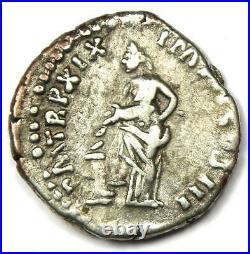 Marcus Aurelius AR Denarius Silver Roman Coin 161-180 AD Good VF / XF