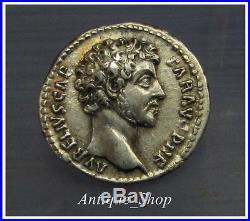 Marcus Aurelius DENARIUSUNCMINT STATE Ancient Roman Silver Coin
