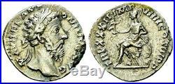 Marcus Aurelius Stunning Denarius. Father of Commodus. Ancient Roman Silver Coin