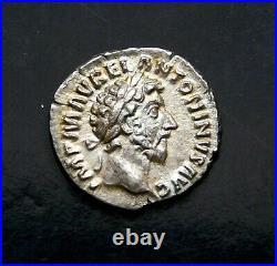Marcus Aurelius. Stunning Denarius. Father of Commodus Ancient Roman Silver Coin