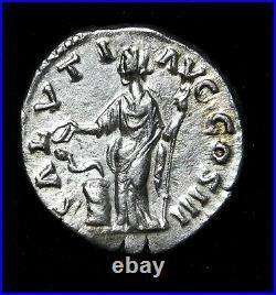 Marcus Aurelius Superb Denarius 169-170 AD Father of Commodus. Roman Silver Coin