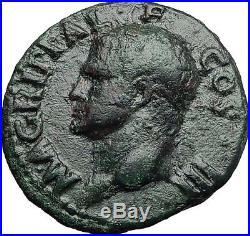 Marcus Vipsanius Agrippa Augustus General Ancient Roman Coin by CALIGULA i58015