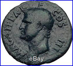 Marcus Vipsanius Agrippa Augustus General Ancient Roman Coin by CALIGULA i64003