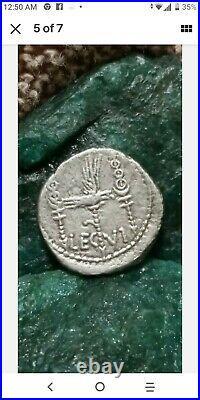 Mark Antony Legionary Roman Silver Coin Denarius Ex-fine Condition