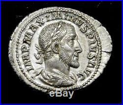 Maximinus I. Outstanding Denarius. Ancient Roman Silver Coin