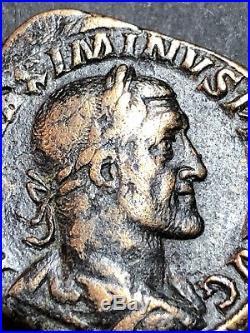 Maximinus Thrax Brass Sestertius. Ancient Roman Imperial Coin. Rome Mint